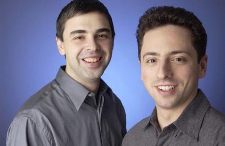 Google의 창시자인 래리 페이지와 세르게이 브린